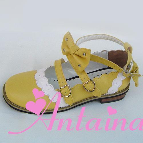 Arc Sweet An8866 Un Talon Gothique Strass Na Princesse Tai Lolita Mignon Chaussures Plat z7Adq