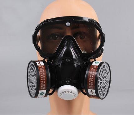 Masque respiratoire à gaz industriel avec masque Anti-buée à charbon actif intégré à la poussière Pm2.5 pulvérisation de peinture de Pesticides