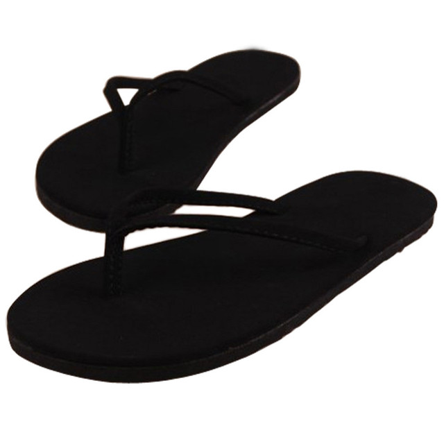 d5affb40b122a3 Fashion Women Summer Flip Flops Shoes Ladies Sexy Sandals Slipper EVA  indoor   outdoor Flip-flops Shoes Solid Flat with Shoes