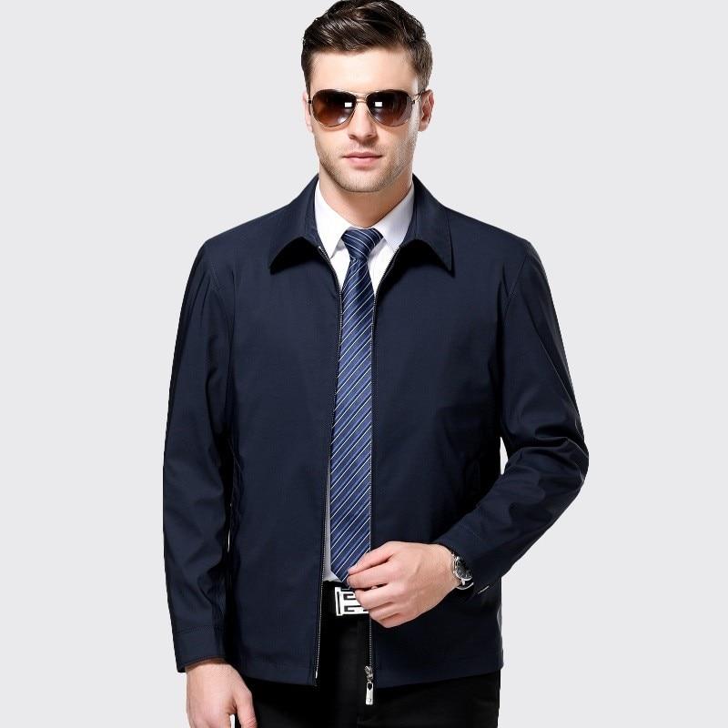 Ropa De Hombre 2019 Jaqueta Masculina Herren Frühling Herbst Jacke Herren Windjacken Zip Jacken Für Männer Jacken Und Mäntel Blau 3XL - 4