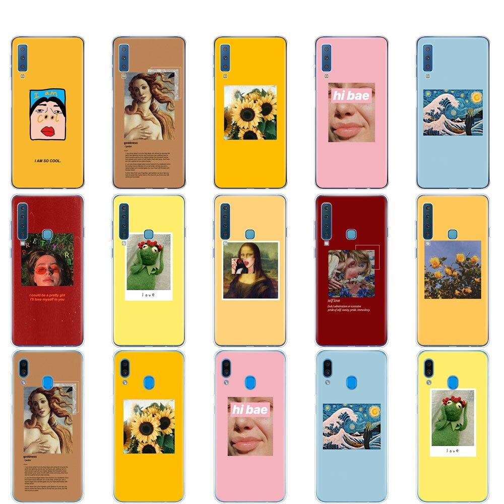 Funda para Samsung A50 funda para Samsung Galaxy A50 A60 A10 A30 A40 A70 A 50 2019 A9 A7 2018 funda moda diseño arte