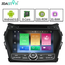 JDASTON 7″ 2DIN Octa Core 2GB+32GB Android 6.0.1 Car DVD Player For Hyundai IX45 SANTA FE 2013 Multimedia GPS Navigation Radio