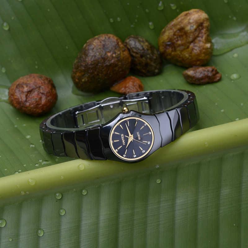 2018 melhor venda relógio moda feminina relógios de cristal luxo strass cerâmica haiyes quartzo relógios de pulso dropshipping relogio