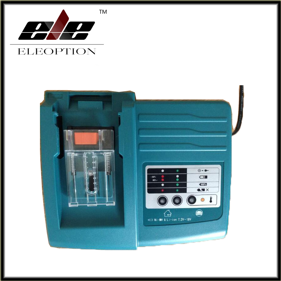 цены  Eleoption New Li-ion Battery Charger Replacement Power tool Battery Charger for Makita BL1830 Bl1430 DC18RC DC18RA