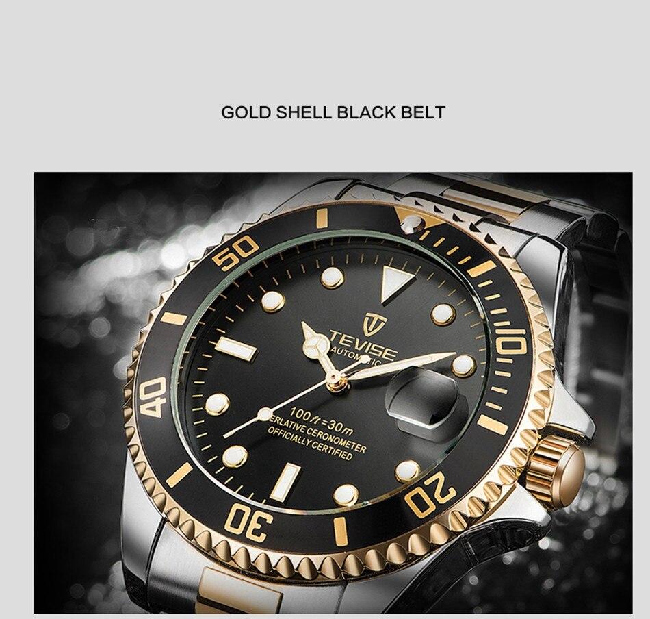 HTB1V682KuSSBuNjy0Flq6zBpVXaa Tevise Luxury Waterproof Automatic Men Mechanical Watch Auto Date Full Steel Business Top Brand Man Watches Water Resistant T801