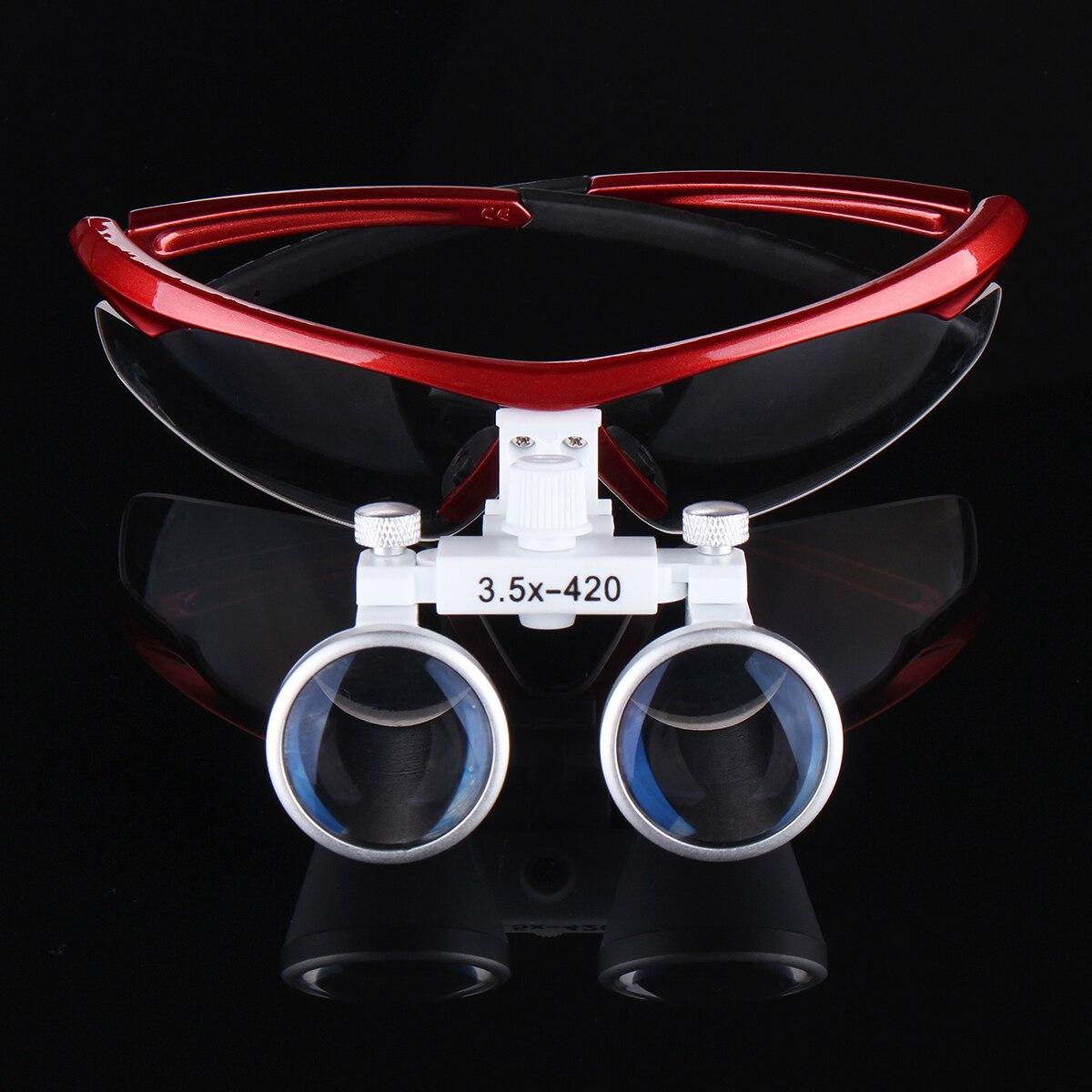 цены на 3.5X420mm Dental Binocular Magnifier Optical Glasses Loupes Anti-fog Lens Magnifying Red Oral Surgical Medical Equipment в интернет-магазинах