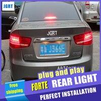Автомобиль Стайлинг для Kia Forte фонарь сборки Cerato 2010 2013 светодиодный фонарь Форте задние лампы ДРЛ + тормоз с hid комплект 2 шт..