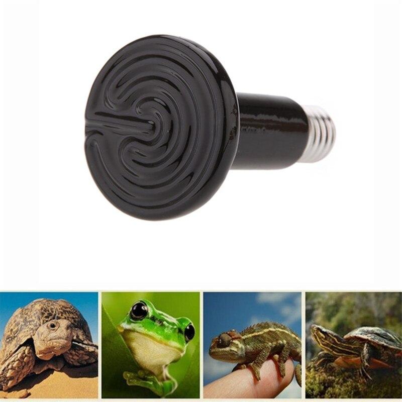 Sapo preto lagarto guiyi lâmpada répteis aquecedor de inverno animal necessário lâmpada cerâmica anfíbio especial/25w50w75w100w150w200w