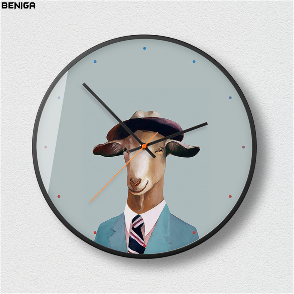 Amusing Minimalist Dog Cat Animal Pattern Wall Clock Advanced European Metal Frame Mute Wall Clock Wall Clocksfrom Home Minimalist Dog Cat Animal Pattern Wall Clock Advanced furniture Wall Clock Artistic
