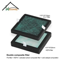 HEPA Filter Dust Collection Filter Air Purifier Activated Carbon Filter With Double Composite Filter 115 115