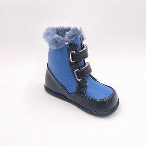 Image 3 - Tipsietoes 2020 새로운 겨울 어린이 맨발의 신발 가죽 마틴 부츠 키즈 스노우 보이즈 고무 패션 핑크 스니커즈