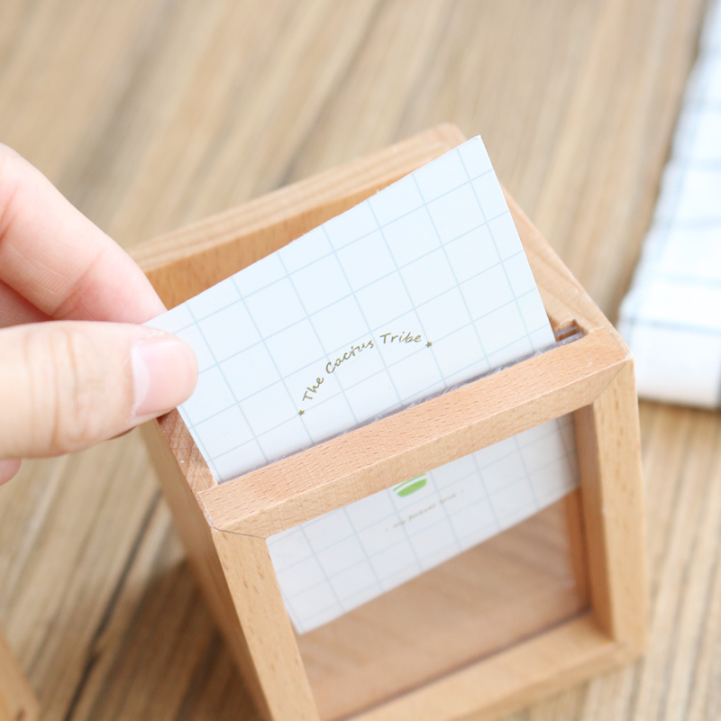 JIANWU Succulent plants Wooden pen container Multifunctional photo frame pen insertion kawaii 3