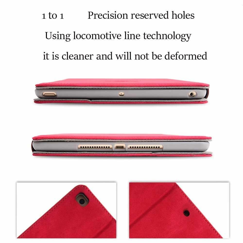Coolaxy Scrub PU Lederen Smart Case Voor IPad Air 2 Air 1 Wakeup/Sleep Cover Case Voor IPad Case 2018 9.7 Voor 6th 5th Generatie