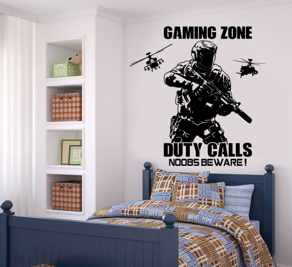 For Kids Playroom Boys Room Decor Wall Art Decoration Solider With