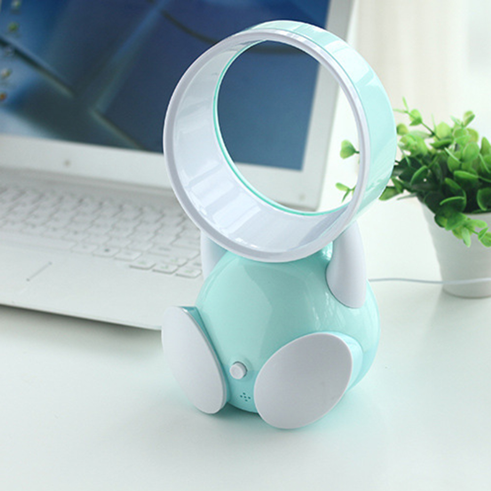 USB fan without vane,cartoon fan Health without vane,  through the air multiplier technology optimization, front is 100% natural the health gap