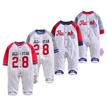 2019 New Newborn Footies Spring Winter Striped Long Sleeved Jumpsuit Pajamas Baby Boys Boy Bebes Clothes Body Suit cospot rush sale newborn footed jumpsuit kids winter autumn pajamas bebes body suit footies baby boy girl clothes 3pcs lot 30d