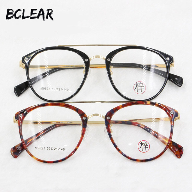 8eda27c6e82 BCLEAR new arrival fashion style retro double bridges optical frame for men  and women most popular high quality eyeglasses M9621