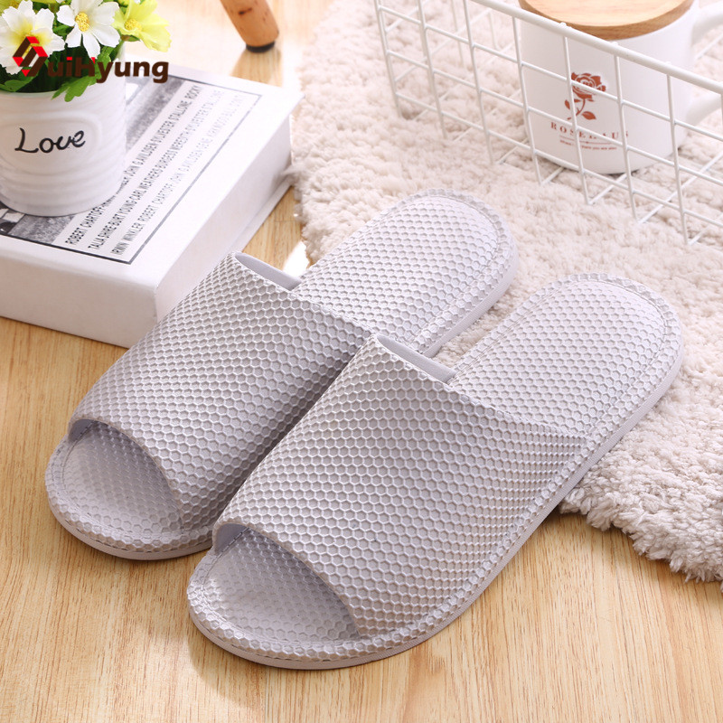 Suihyung Men's Shoes Soft Bottom Non-slip Indoor Slippers Home Bathroom Plastic Slippers Honeycomb Shape Beach Slippers suihyung design new women and men summer flat shoes hit color breathable hollow beach slippers flips non slip unisex sandals