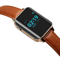 Oraginal Men Smart Watch Lux Business Leather Strap Smartwatch GPS For Male GSM Locator Tracker Anti Lost Watches iOS Android