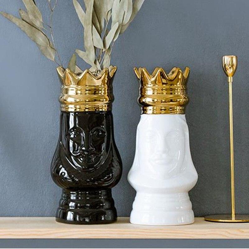 Creativo frontale in ceramica artigianato, re imperatore modello ornamenti, scrivania a casa decorazioni,Creativo frontale in ceramica artigianato, re imperatore modello ornamenti, scrivania a casa decorazioni,