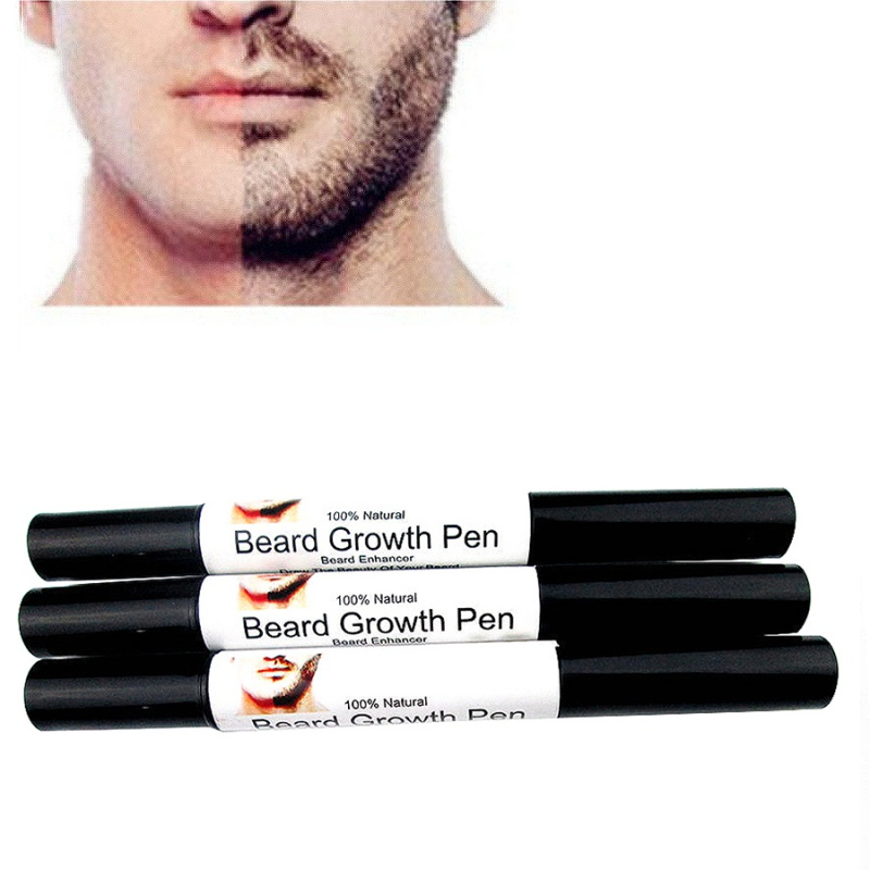 Fast Effective Face Beard Whiskers Moustache Growth Enhance Enhancer Style Styling Spray Shape Drawing Liquid Oil Pen WD