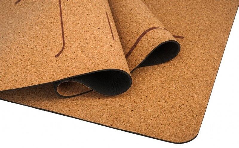 5mm Cork Rubber Yoga Mat For Hot Yoga 4
