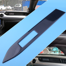 CITALL High Quality Car Carbon Fiber Interior Center Console Panel Cover Trim fit for Ford Mustang 2015 2016 2017 2018