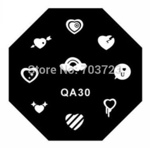 QA series de acero inoxidable placa de estampación nail art sello legendario de