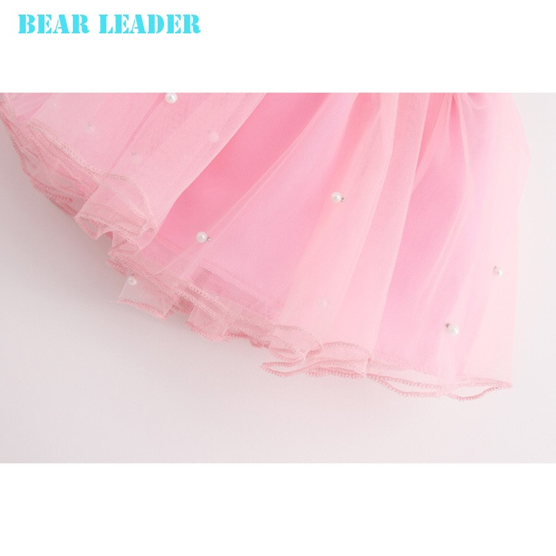 Bear Leader Girls Clothing Sets New Summer Fashion Style Cartoon Kitten Printed T-Shirts+Net Veil Dress 2Pcs Girls Clothes Sets 46