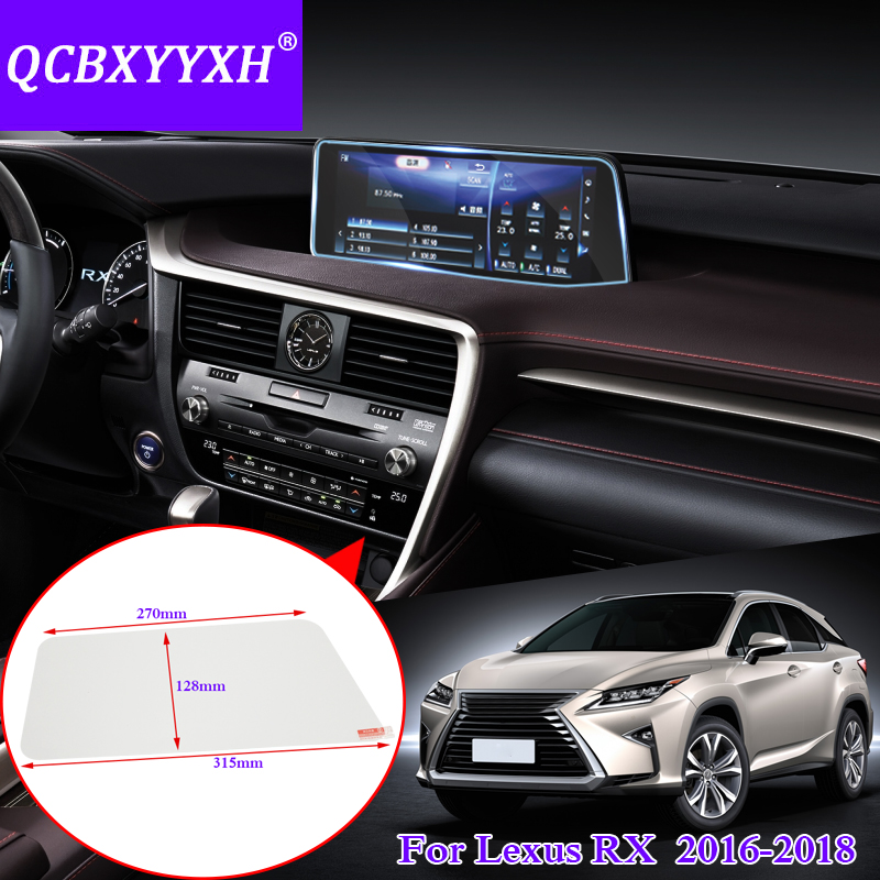 Qcbxyyxh for lexus rx 200t rx350 rx450h car styling gps navigation screen glass protective film for Automotive interior protective film