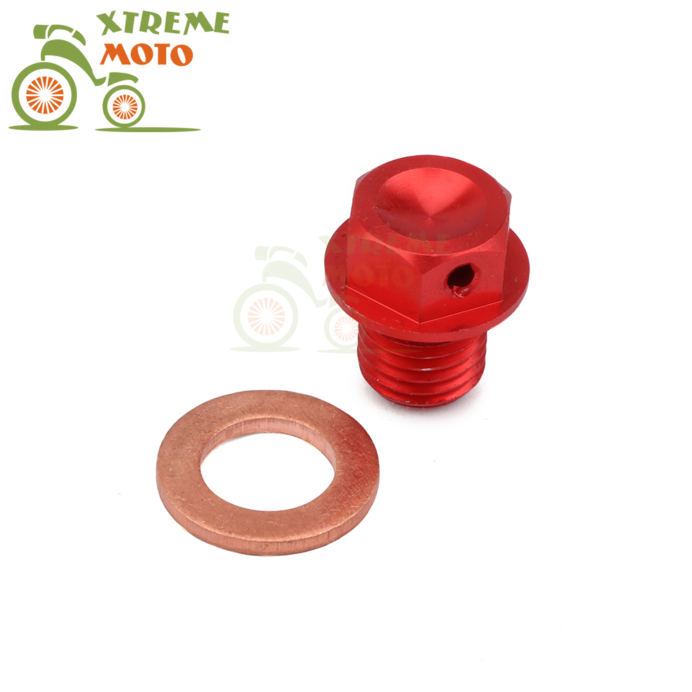 CNC M12*1.5 Magnetic Oil Sump Screw Drain Plug Bolt For HONDA <font><b>ATC</b></font> Big Red Foreman FourTrax Rancher Recon 125 185 200 250 <font><b>400</b></font> 500 image
