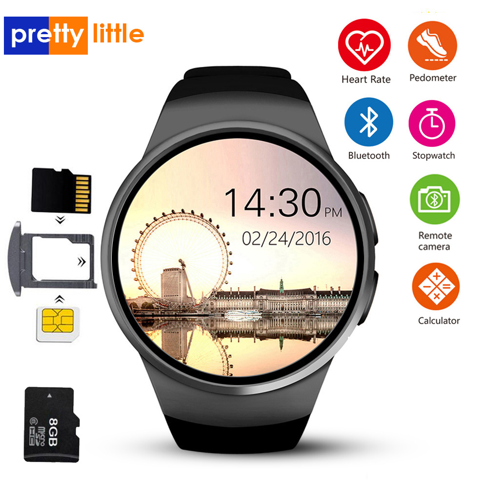 KW18 Smart Watch Connected Wristwatch For Samsung Xiaomi Android Support Heart Rate Monitor Call Messager Smartwatch phone-in Smart Watches from Consumer Electronics    1
