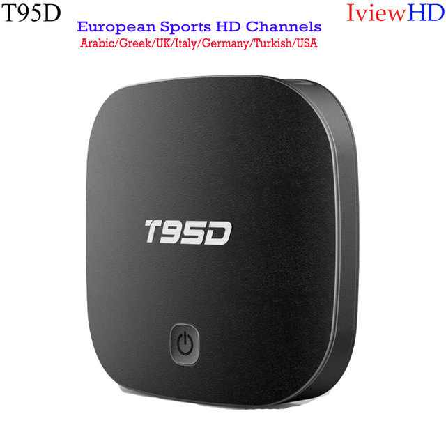 Cheap T95D Android TV BOX IviewHD Arabic IPTV Subscription Italian English  Germany Greek Turkish TV Package UK Indian EPG VOD TV-in Set-top Boxes from
