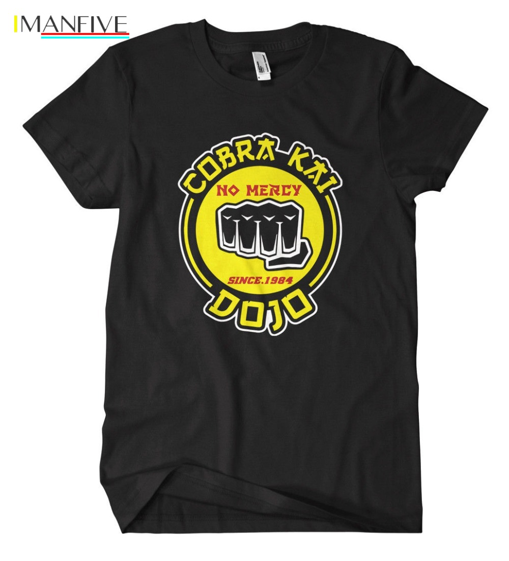 Cobra Kai Fist T Shirt Karate Fun Kult MMA Miyagi K1 Boxen Kid Kung Fu Kick2019 Fashion slim T shirts T Shirt Men 39 s Tee Shirts in T Shirts from Men 39 s Clothing