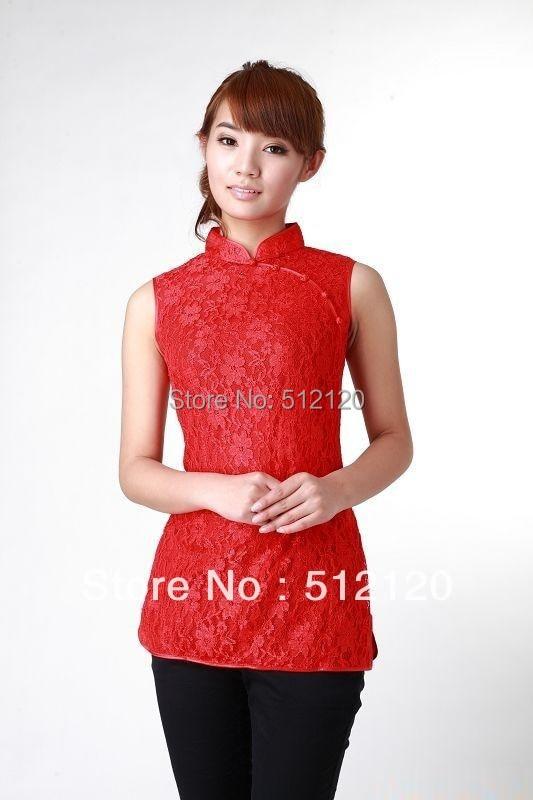 61114cc6dbb9d شنغهاي قصة جديدة بيع عالية الجودة الملابس الصينية التقليدية شيونغسام أعلى  المرأة الرباط أكمام شيونغسام أعلى