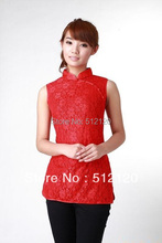 Shanghai Story new sale high quality chinese traditional clothing cheongsam top woman Lace Sleeveless cheongsam top