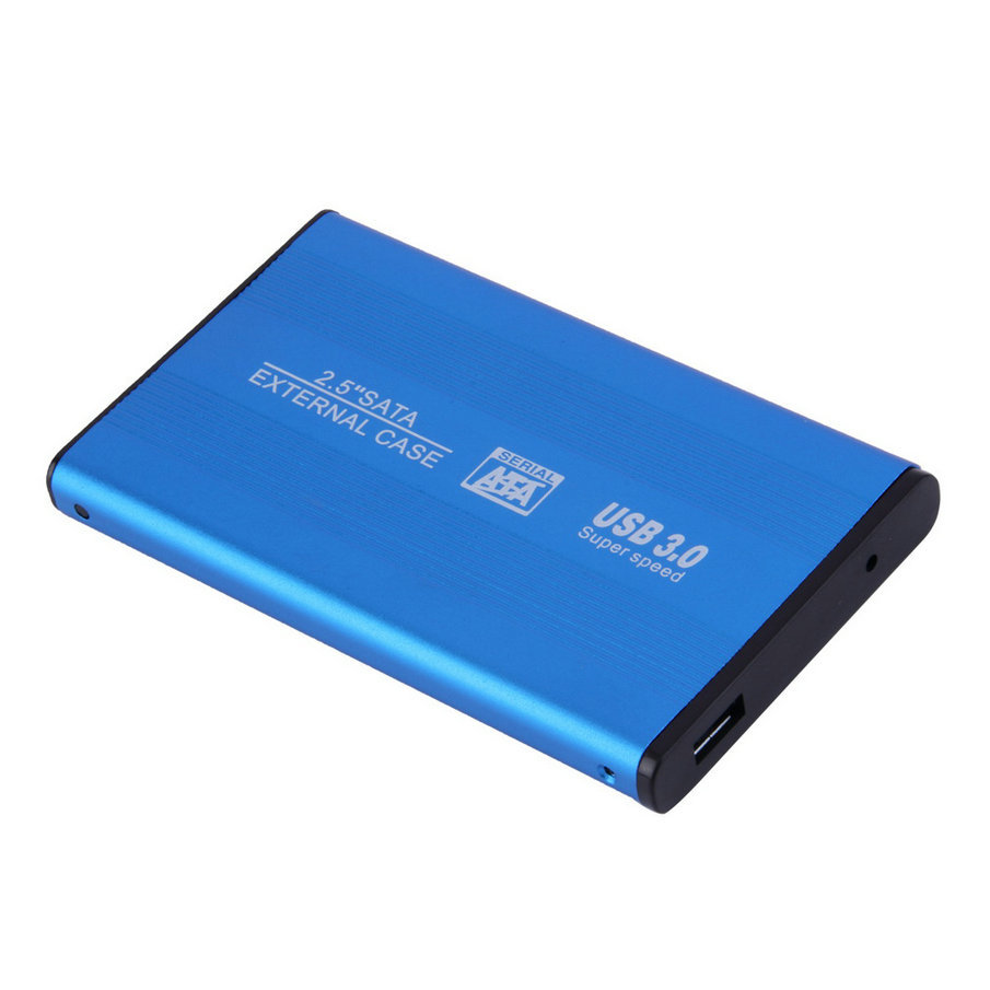 box hdd 2.5 usb 3.0 HDD Case Hard Drive SATA External Enclosure hard disk case  for laptop hdd adapter blue free shipping for lenovo ideapad g700 g710 g780 g770 17 3 inch laptop 2nd hdd 1tb 1 tb sata 3 second hard disk enclosure dvd optical drive bay