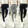 Corredores dos homens Nova Moda: Casual Harem Sweatpants Calças Calças Sarouel Homens Treino Bottoms para a Faixa