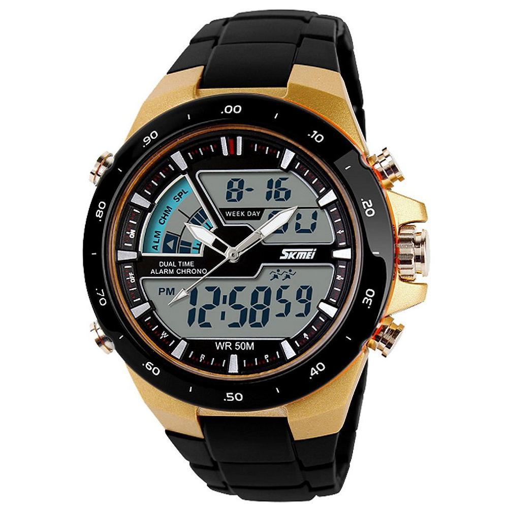 Relojes LinTimes para hombre, relojes deportivos con pantalla analógica, reloj digital, reloj electrónico, reloj montre homme, reloj