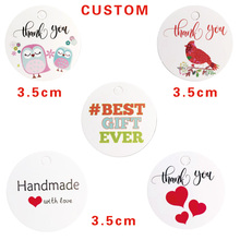 100pcs Multi Cute White Paper Gift Label Tag Handmade Jewelry Charms Round Wedding Favors Decorative Tags Custom