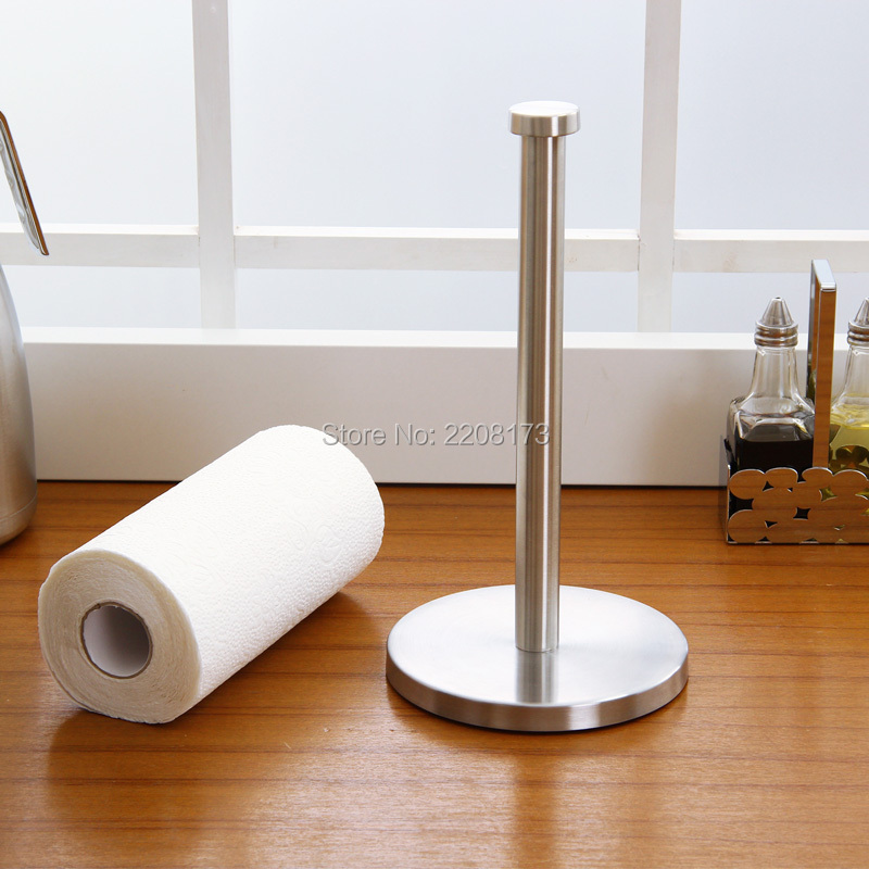 Deck Paper Holder New Arrival Housewares Good Quality Brushed Stainless Steel Kitchen Paper Towel Roll Holder Smesiteli free shipping dining room kitchen household stainless steel 460mm 150mm kitchen paper holder paper roll holder