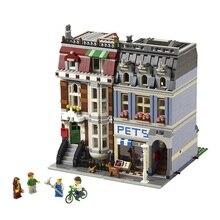 2082pcs Pet Shop Supermarket Model City Street Creator Building Blocks Minifigure Toys For Children