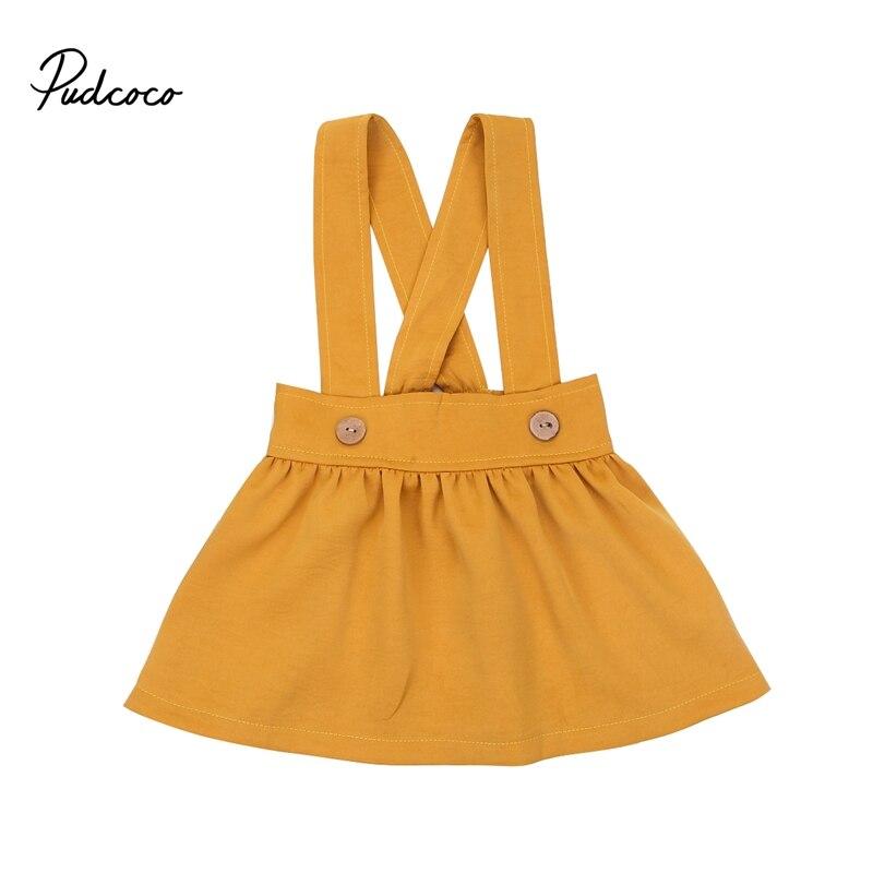 2018 детские детская одежда для девочек новая мода твердых кнопку хлопок чулок плиссированная юбка 0-3years Лидер продаж