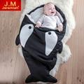 JEREMIAH Cartoon Shark Cotton Newborn Sleeping Bags Winter Strollers Bed Swaddle Blanket Wrap Warm Pretty Soft Sleep Sacks