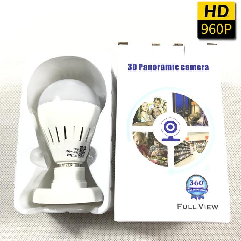 360 Degree WIFI Camera Wireless IP Camera Wi-Fi Bulb Lamp Fisheye Panoramic Surveillance Security Camera Motion Detection
