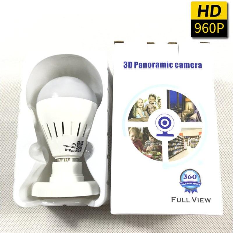 360 degrés WIFI caméra sans fil IP caméra Wi-Fi ampoule lampe Fisheye Surveillance panoramique caméra de sécurité détection de mouvement