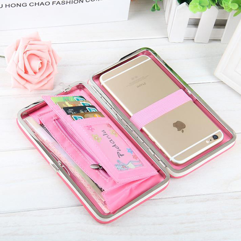 Leather Ladies Wallet Coin Purse, Ladies Small Wallet Ladies Snap Phone Bag Lunch Box Female Bag. 2019 Hot!