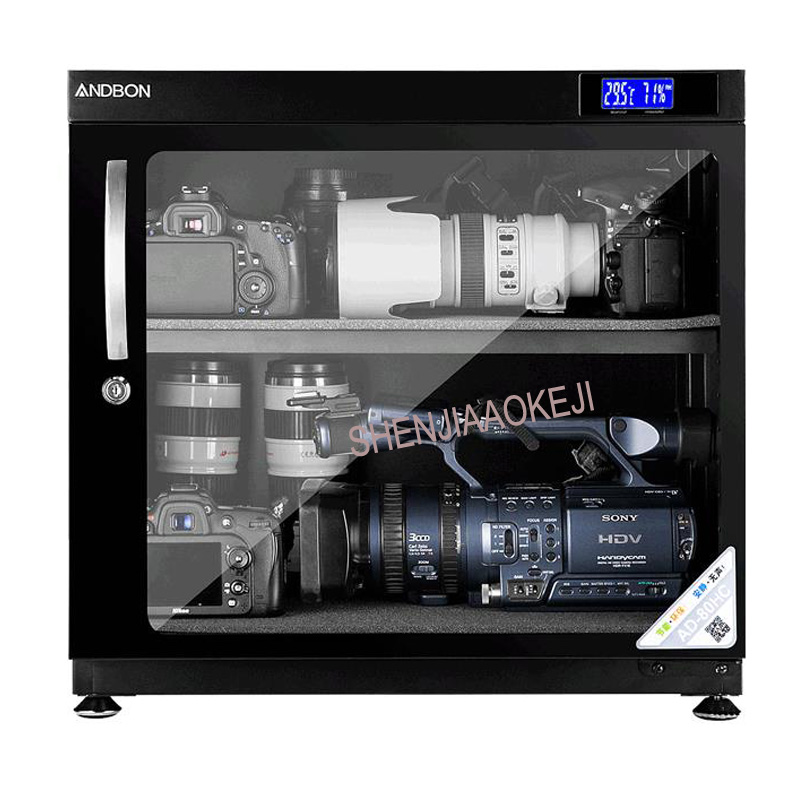 AD-80HC Electronic Moistureproof Box LED Drying Oven 80L SLR Storage Lens Moisture-proof Camera Drying Storage-Cabinet 220V 1pc