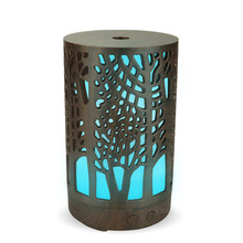 7 colors LED night light with 100ml Air Humidifier Essential Oil Aroma Diffuser air Purifier Hollow cylinder for home office 420ml large capacity air humidifier essential oil aroma diffuser remote control led night light for office home desktop