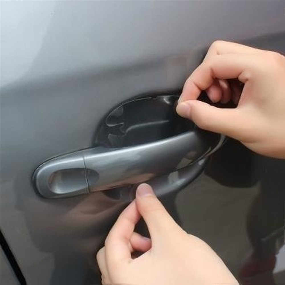 16/8 pièces universel Invisible Transparent voiture porte poignée rayures protecteur Films poignée Protection autocollant